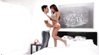 Dirty man with nice body kissing sluttish gf
