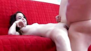 Vicious slut is posing on doggie style porn