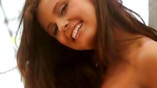 Curious teenaged girl is attracting horny guys with her smile