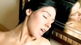 Observe at dark-haired porn star is fingering her okay cookie