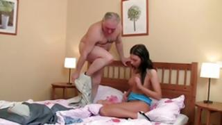 Look at my lass porn where salacious girlie having sex with grandpa