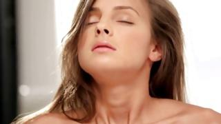 Attractive hooker in G-string masturbating her cum-hole