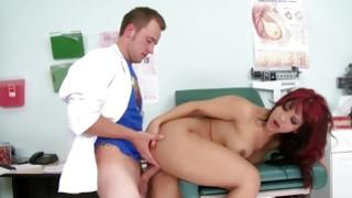 Kinky doctor fucking exciting doxy with precious butt