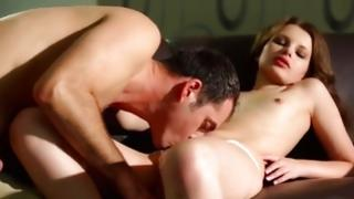 Most priceless dark-haired is having weighty switch of her character inherent her cute cum-hole
