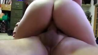 Dark-haired moll got messed up by tremendous penis ripened hunk