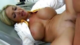 Awesome harlot with great jugs buggered in beaver