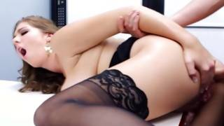 Bent over vicious gf is sexually sucking a 10-pounder