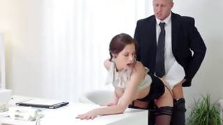 Brunette wench is fucked cruelly with heavy lollipop